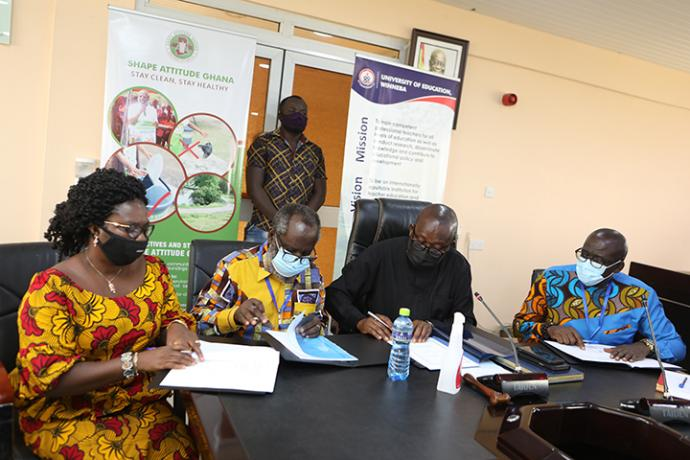 SHAPE Attitude Ghana and University of Education, Winneba (UEW) formalise their collaborative work on Sanitation