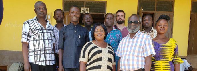 Friends of SHAPE Attitude Ghana from Switzerland visit Winneba schools